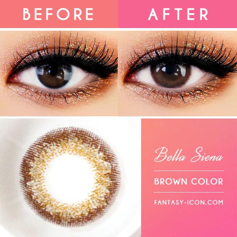 Bella Siena Brown Contacts - Lens Detail