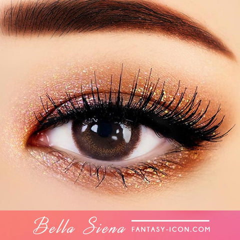 Brown Contacts - Silicone Hydrogel Bella Siena - Detail