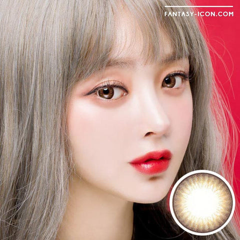 Premiere Lucy Brown Colored Contacts for Astigmatism - Model