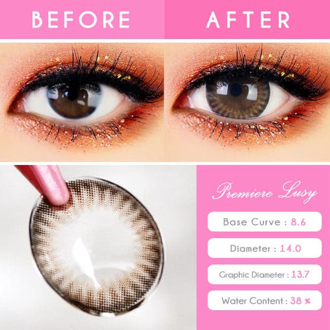 Premiere Lucy Brown Colored Contacts for Astigmatism - Detail