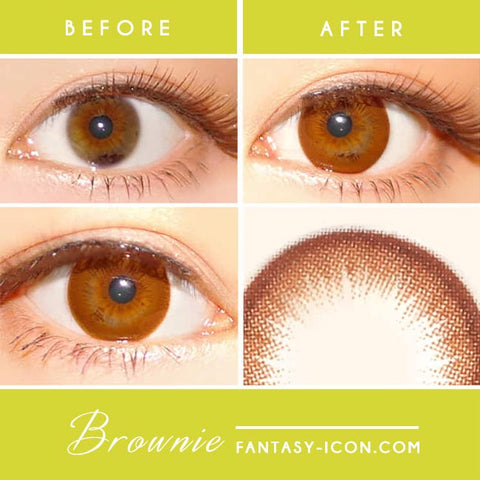 Brownie Brown Colored Contacts detail
