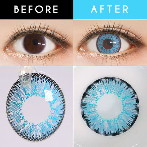 Candy Halloween Blue Contacts | Sky Blue Lenses