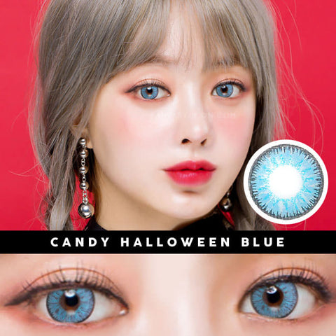 Candy Halloween Blue Contacts | Sky Blue Lenses 2