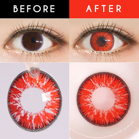 Candy Halloween Red Brown Contacts | Anime Lenses