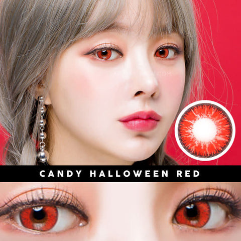 Candy Halloween Red Brown Contacts | Anime Lenses 2