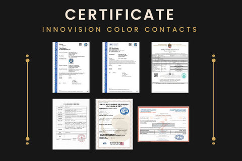colored contacts Certificate