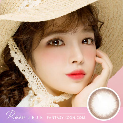 Rose JeJe Chocolate Brown Contacts Model