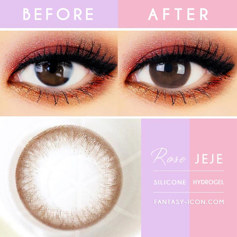Rose JeJe Chocolate Brown Contacts - Lens Detail