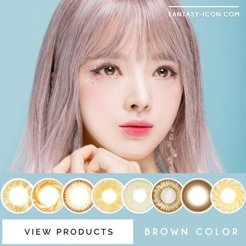 Colored Contact Lenses - Honey Sue Chocolate Brown