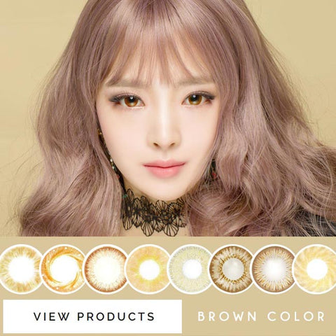 Natural Colored Contact Lenses - Pearl Chocolate Brown