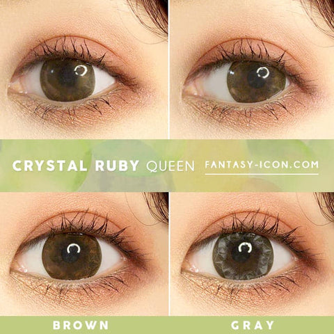 Crystal Ruby Queen Brown Colored Contacts - Circle Lens - detail