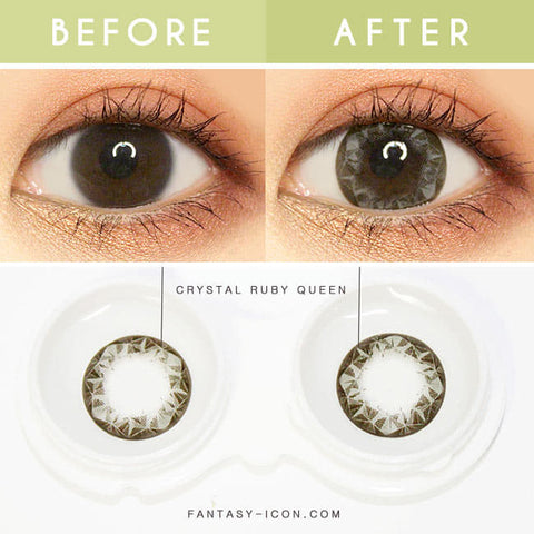 Crystal Ruby Queen Grey Colored Contacts - Circle Lens - detail