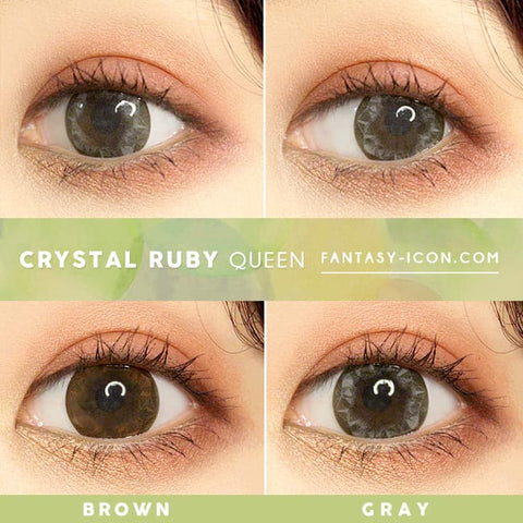 Crystal Ruby Queen Grey Colored Contacts - Circle Lens - eyes