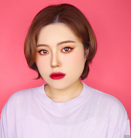 Colored Contacts For Astigmatism review - Crystal Silicone hydrogel Brown Toric Lens
