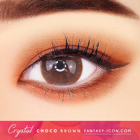 Crystal Silicone hydrogel Lens Chocolate Brown Colored Contacts eyes