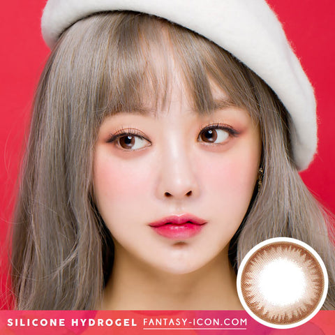 Colored Contacts For Astigmatism model - Crystal Silicone hydrogel Chocolate Brown Toric Lens