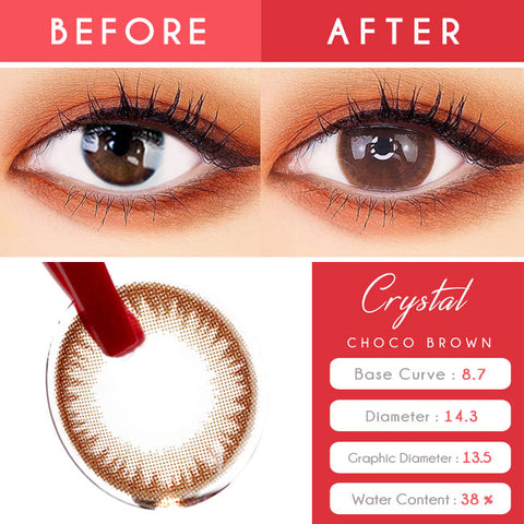 Silicone hydrogel Chocolate Brown Toric Lens Colored Contacts For Astigmatism eyes