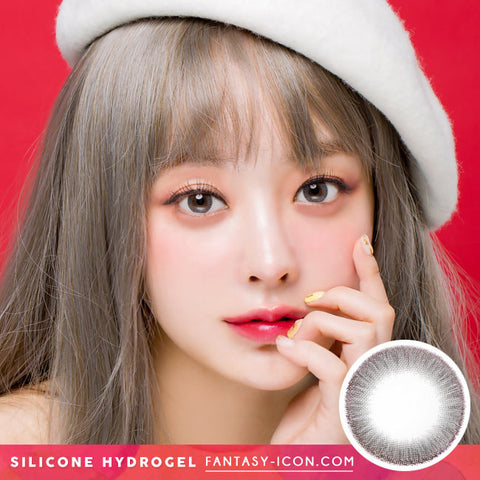 Crystal Silicone hydrogel Lens Grey Colored Contacts model