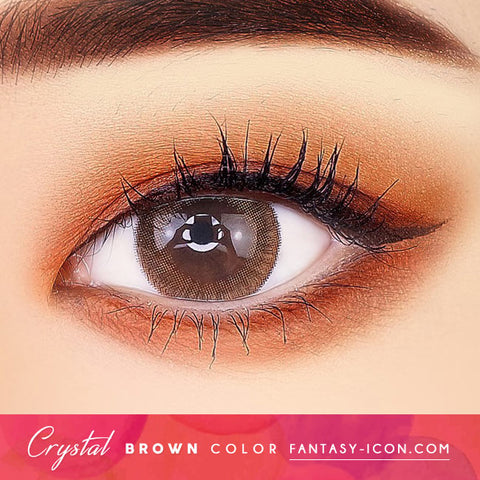 Crystal Silicone hydrogel Lens Brown Colored Contacts eyes