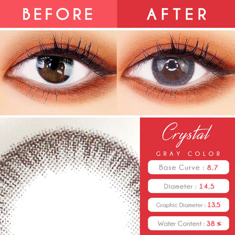 Crystal Silicone hydrogel Grey Toric Lens Colored Contacts For Astigmatism eyes