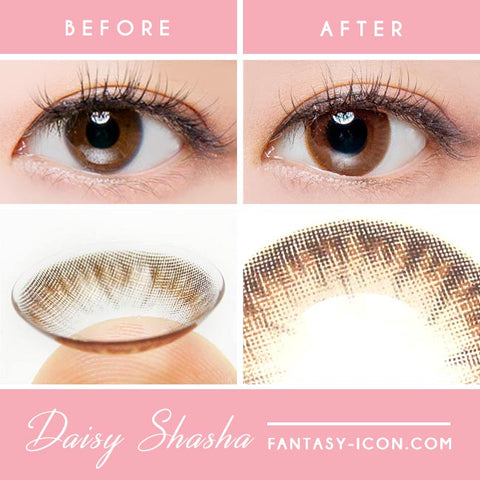 Chocolate Brown Colored Contact Lens - Daisy Shasha