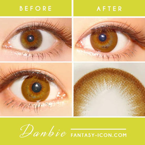 Danbie Brown Colored Contacts eyes