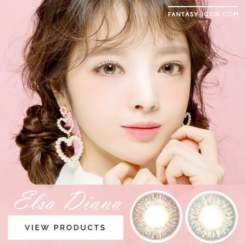 Toric Colored Contacts for Astigmatism - Elsa Diana Grey 5