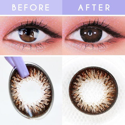 Disco Dali Brown Contacts for Hperopyia | farsightedness Detail