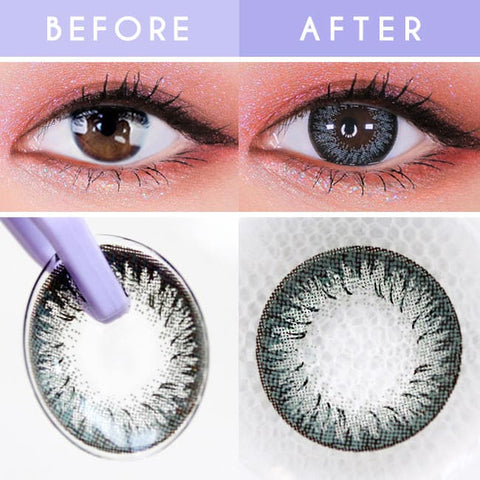 Disco Dali Gray Contacts for Hperopyia | farsightedness Detail
