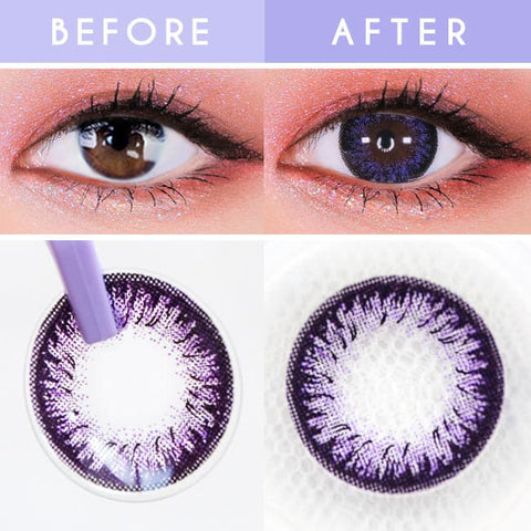 Disco Dali Violet Contacts for Hperopyia | Purple farsightedness Detail