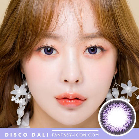 Toric Lens Disco Dali Violet | Purple Colored Contacts For Astigmatism model