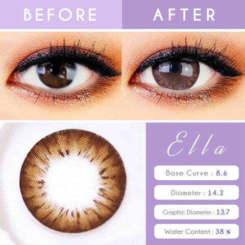 Ella Chocolate Brown Contacts - Detail