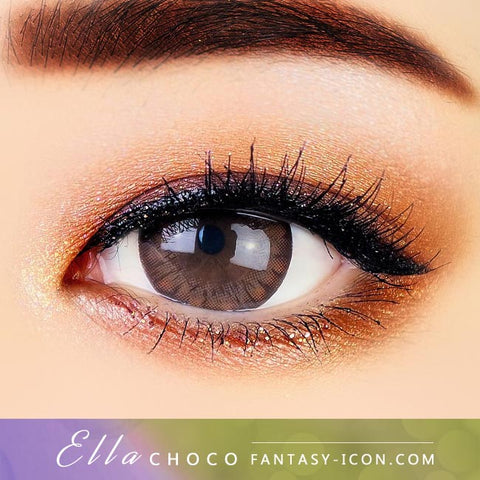 Chocolate Brown Contacts - Ella - Eyes Detail