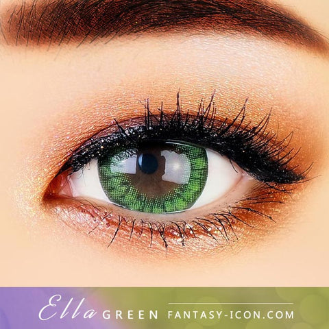 Green Contacts - Ella - Eyes Detail