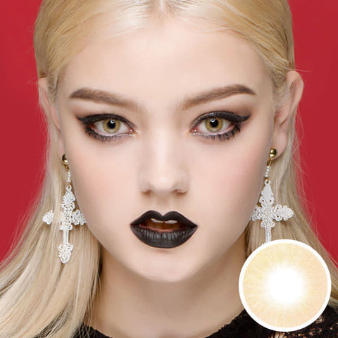 Etoile Honey Brown Colored Contacts model