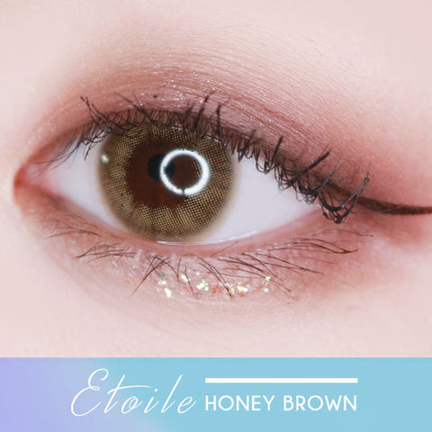 Etoile Honey Brown Colored Contacts eyes