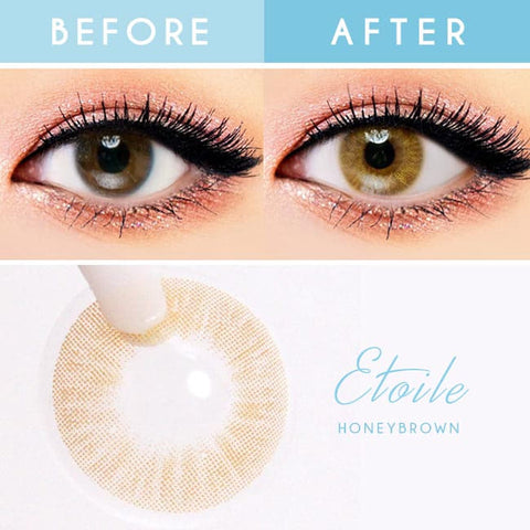 Etoile Honey Brown Colored Contacts detail
