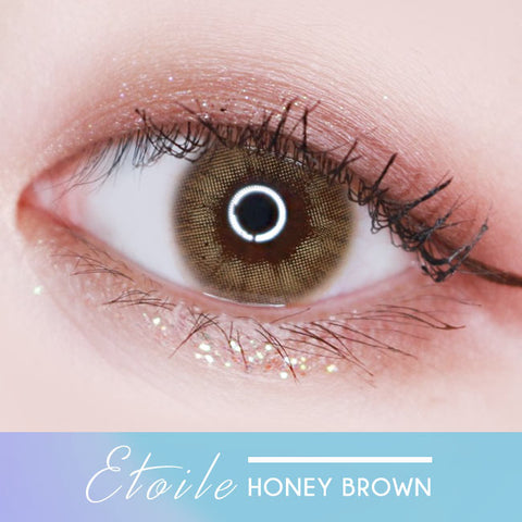 Etoile Honey Brown Colored Contacts eyes 2