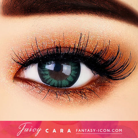 Natural Green Colored contacts for Hyperopia Juicy Cara