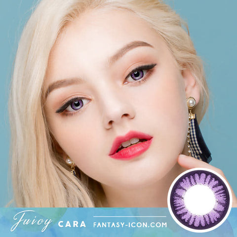 Colored Contacts for Hyperopia Juicy Cara Violet - farsightedness model