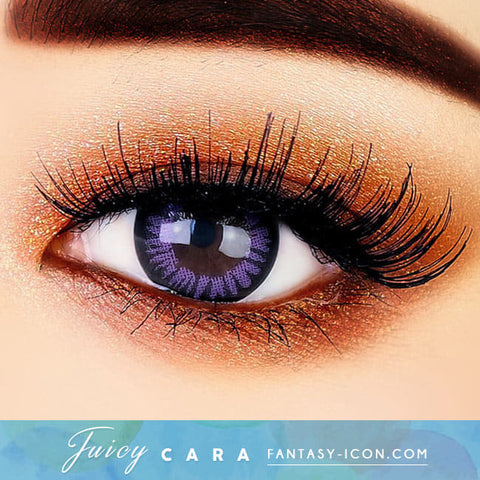 Colored Contacts for Hyperopia Juicy Cara Violet - farsightedness