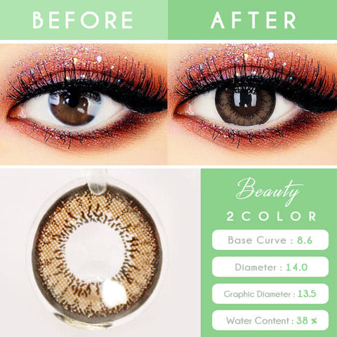 Two Color Brown Contacts for Hperopyia - Brown Farsightedness