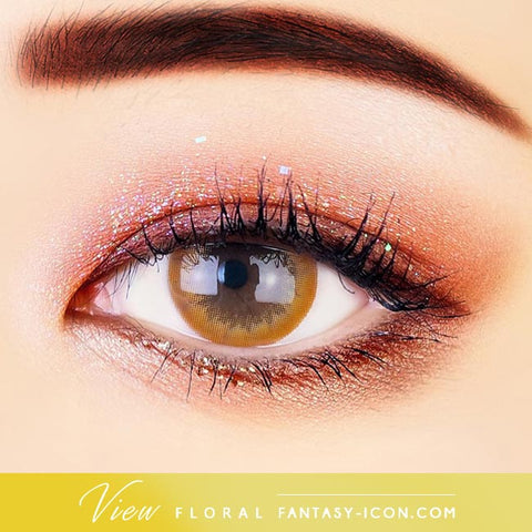 View Floral Brown Contacts - Eyes