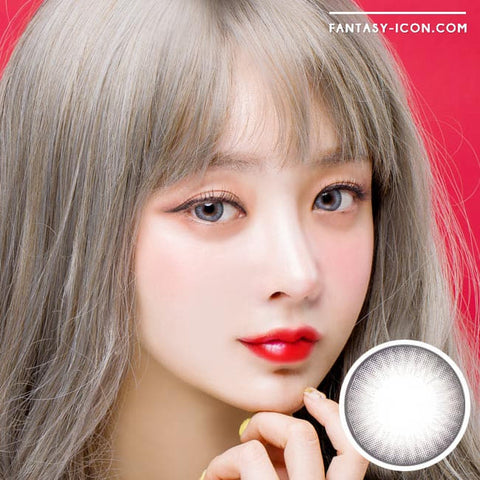 Premiere Lucy Grey Colored Contacts for Astigmatism - Model