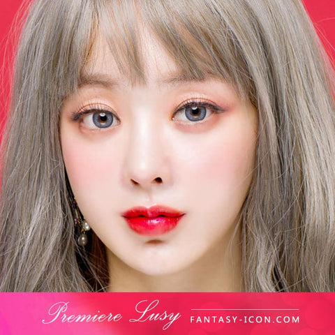 Premiere Lucy Grey Colored Contacts for Astigmatism - Model 2