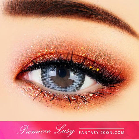 Premiere Lucy Grey Colored Contacts for Astigmatism - Eyes Detail