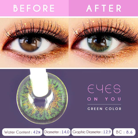 Eyes on You Green Colored Contacts - Detail