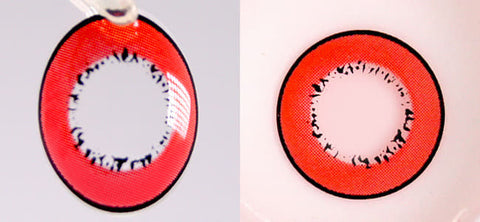 Cosplay UV Halloween Red Contacts | Anime Lenses review 2