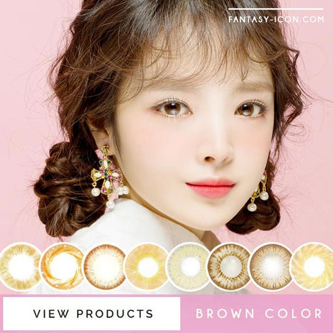 Chocolate Brown Colored Contact Lenses