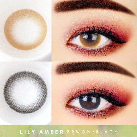 Lily Amber Colored Contacts - Circle Lens beautiful eyes